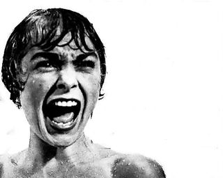 Woman screaming in shower