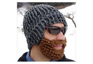 Knit-beard-hat